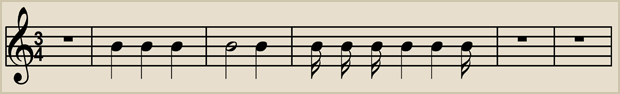 3/4 time has 3 beats to a bar with each beat having a value equal to 1 quarter note