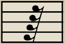 The Sixty Fourth Rest gets the same count as the Sixty Fourth Note