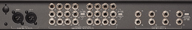 Rear I/O of Mixer